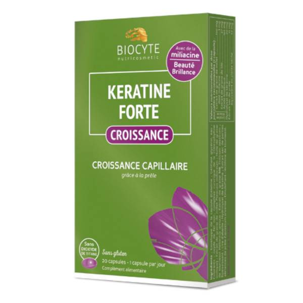 Biocyte Keratine Forte Croissance 20 capsules