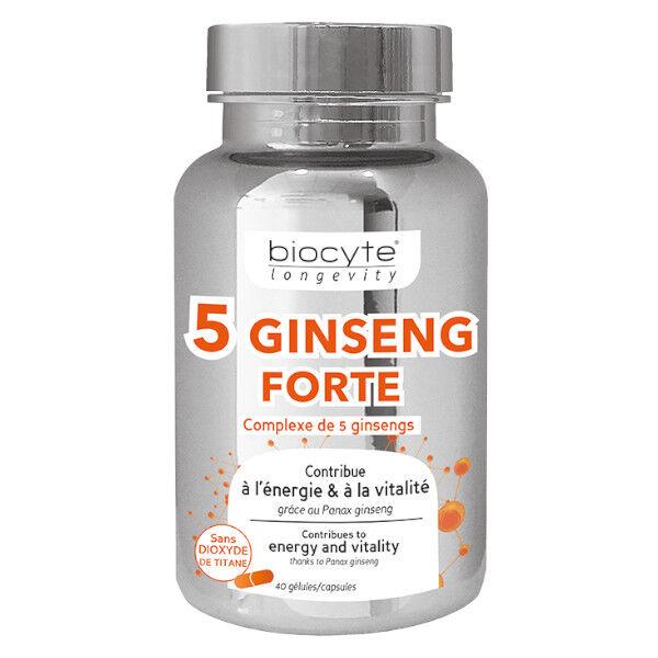 Biocyte Ginseng 5 Fort 40 gélules