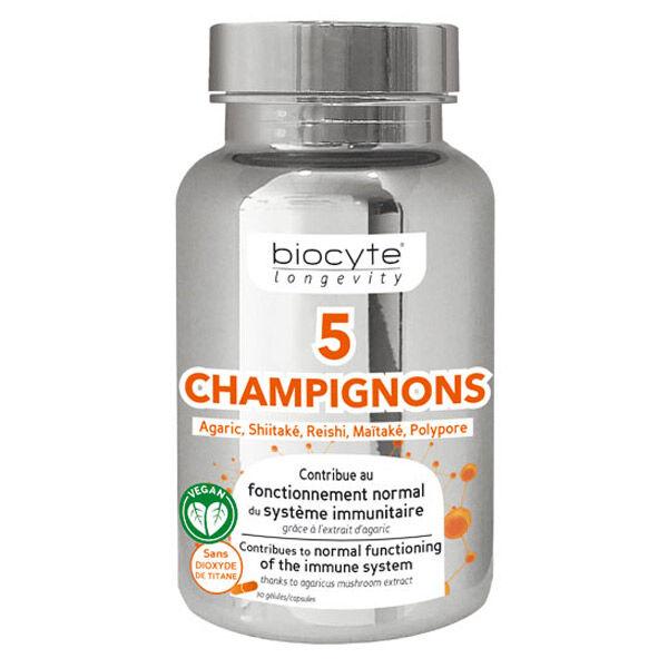 Biocyte 5 Champignons 30 gélules