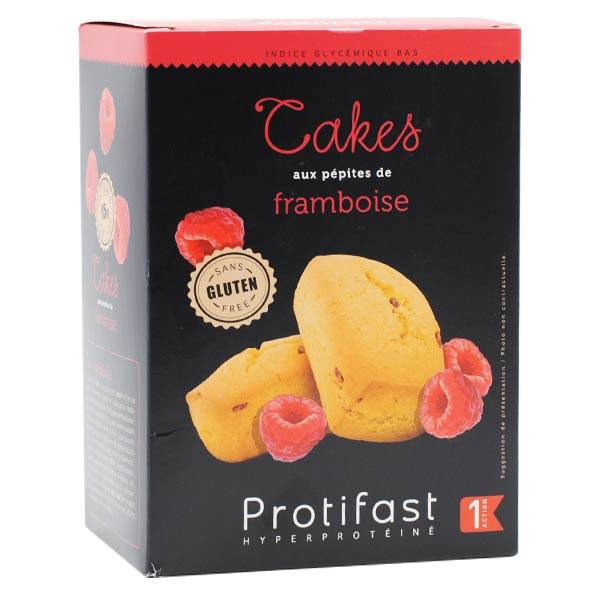 Protifast En-Cas Hyperprotéiné Cake aux Pépites de Framboise 5 sachets