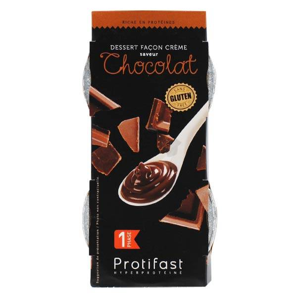Protifast Dessert Hyperprotéiné Crème Chocolat 2 pots