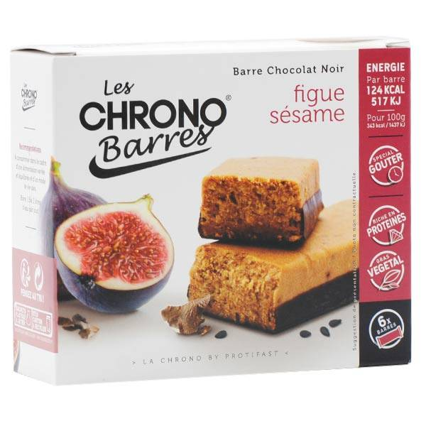 Protifast Chrono Barres Chocolat Noir Figues Sésame 6 barres
