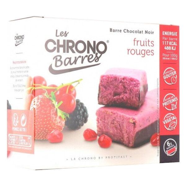 Protifast Chrono Barres Chocolat Noir Fruits Rouges 6 barres