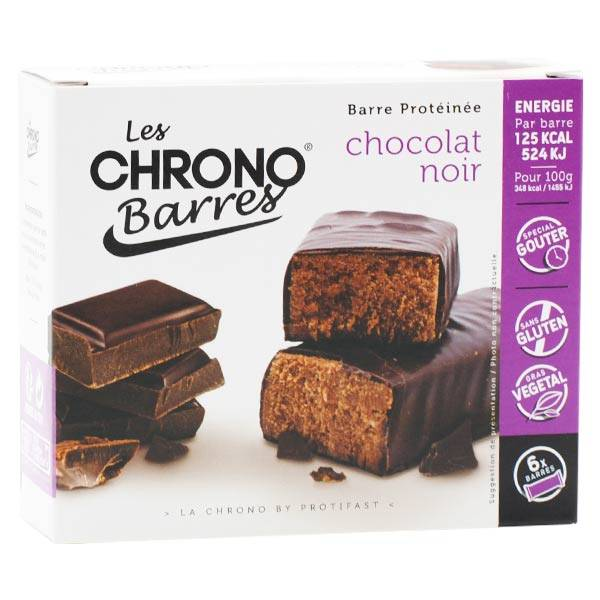 Protifast Chrono Barres Chocolat Noir 6 barres