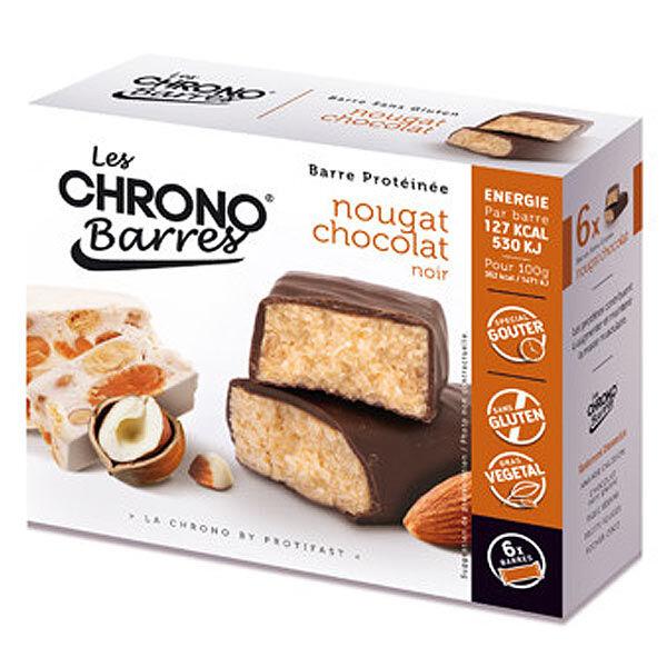 Protifast Chrono Barres Chocolat Noir Nougat 6 barres