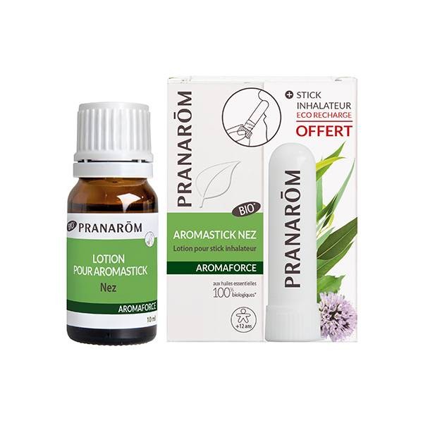 Pranarom Aromaforce Aromastick Lotion Nez 10ml + Inhalateur