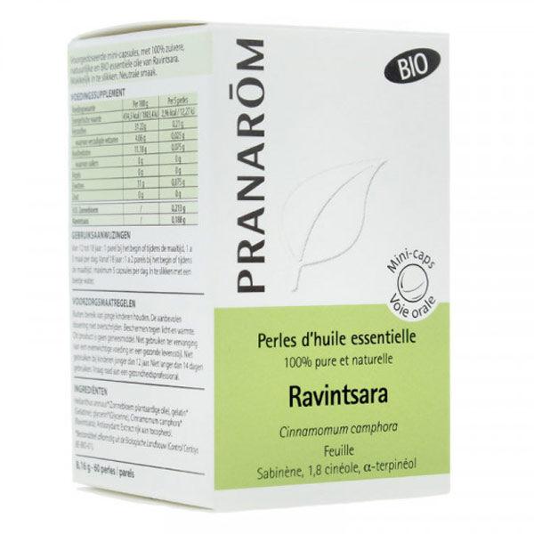 Pranarom Perles d'Huile Essentielle Ravintsara Bio 60 unités