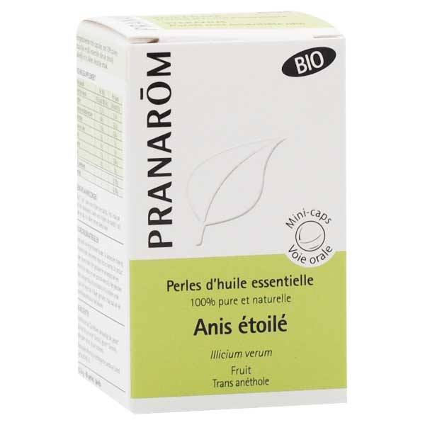 Pranarom Perles d'Huile Essentielle Anis Etoilé Bio 60 unités