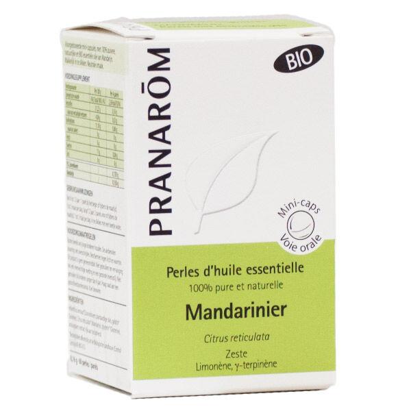 Pranarom Perles d'Huile Essentielle Mandarinier Zeste Bio 60 unités