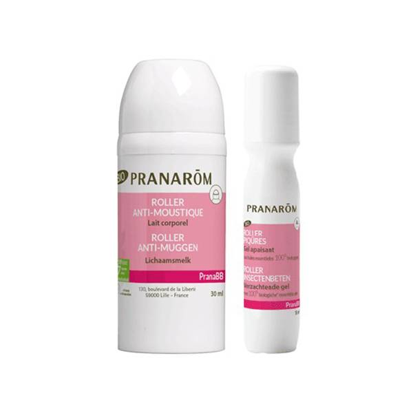 Pranarom PranaBB Roller Anti-Moustique Lait Corporel 30ml + Roller Piqûres Gel Apaisant 15ml
