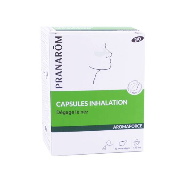 Pranarom Aromaforce Capsules Inhalation Bio 15 capsules