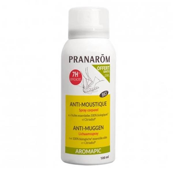 Pranarom Aromapic Spray Corporel Anti-Moustiques Bio 75ml + 25ml Offert