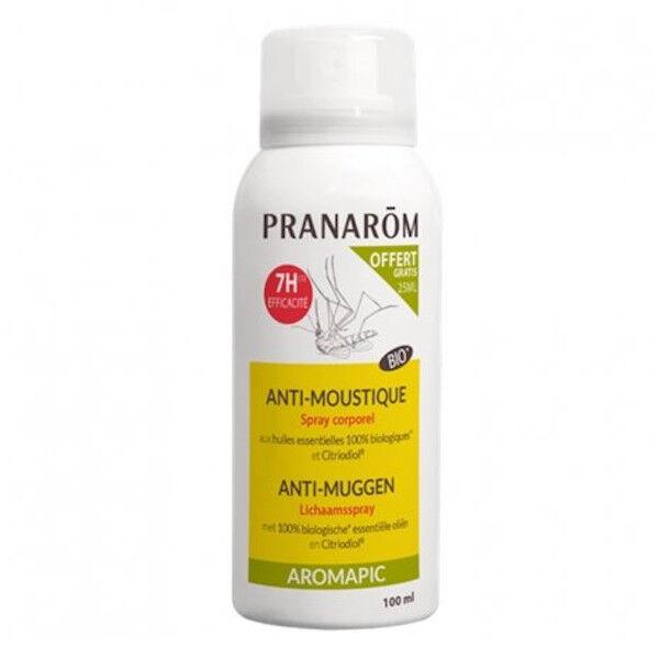Pranarom Aromapic Spray Corporel Anti-Moustiques Bio 75ml + 25ml Offert
