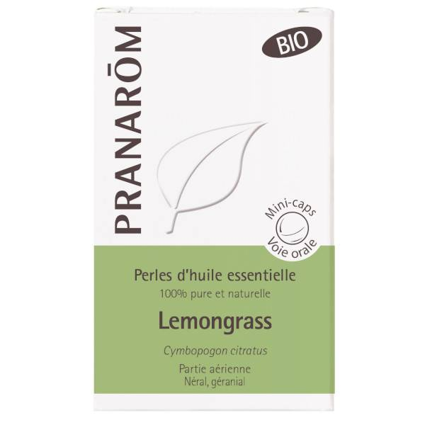 Pranarom Perles d'Huile Essentielle Lemongrass Bio 60 unités