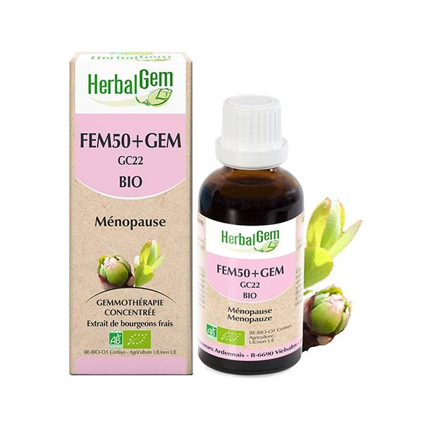 Herbalgem Fem50+GEM Complexe Femme 50+ Bio 30ml