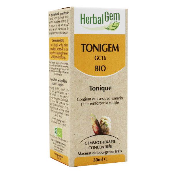 Herbalgem Complexe de Gemmothérapie Tonigem Tonique Bio 30ml