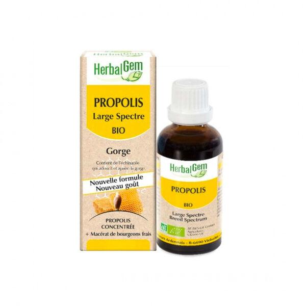 Herbalgem Propolis Large Spectre Gorge Goutte Bio 15ml