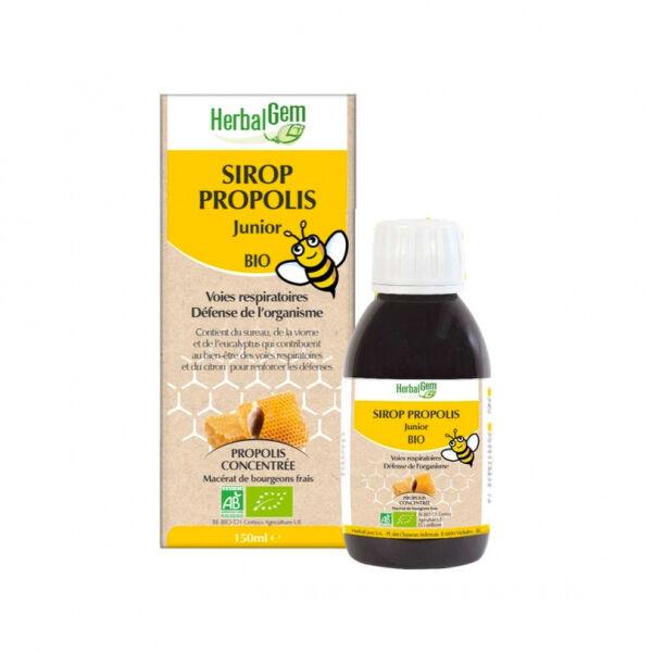Herbalgem Propolis Junior Voies Respiratoires Sirop Bio 150ml