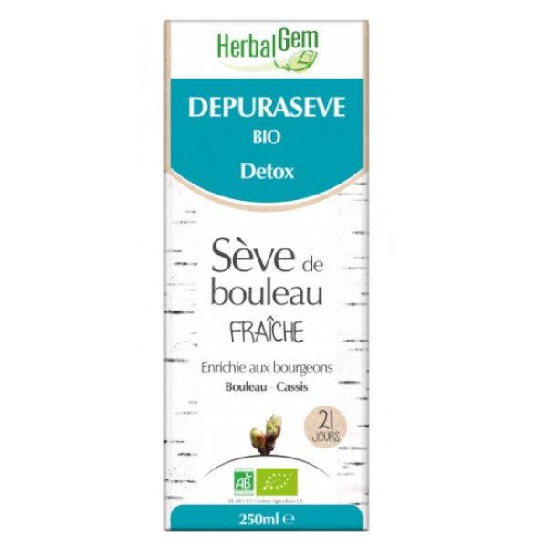 Herbalgem Depuraseve Détox Sève de Bouleau Fraîche Bio 250ml
