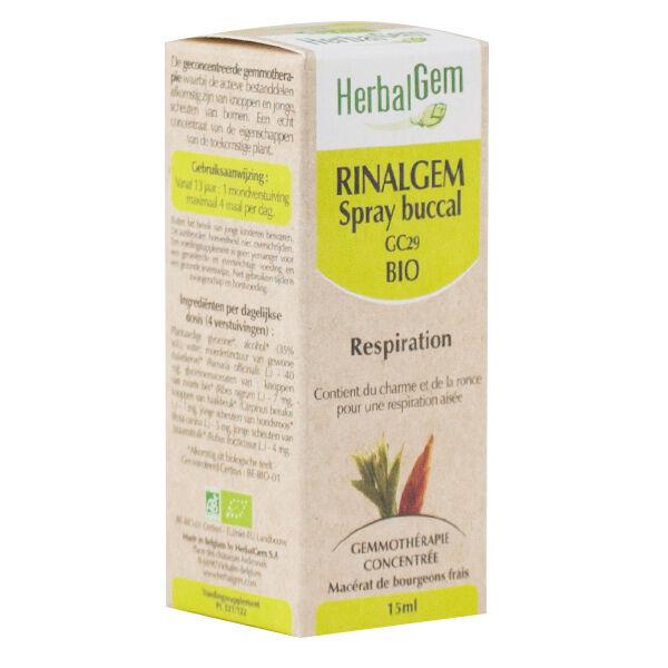 Herbalgem Complexe de Gemmothérapie Rinalgem Respiration Spray Bio 30ml