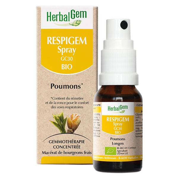 Herbalgem Complexe de Gemmothérapie Respigem Poumons Bio 10ml
