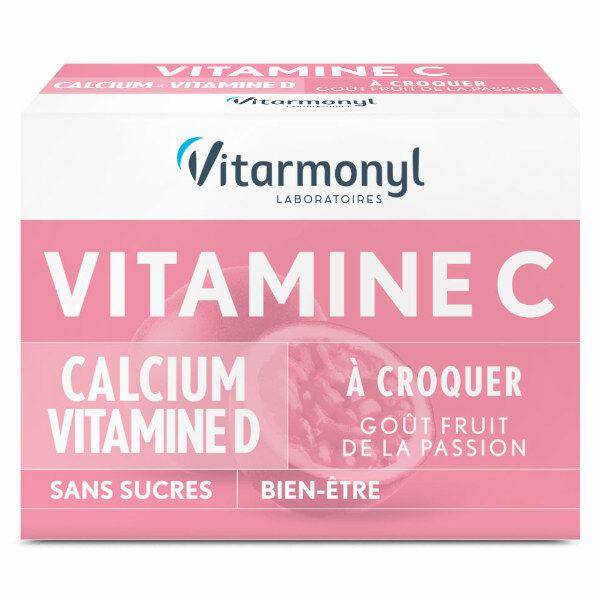 Vitarmonyl Vitalité Vitamine C + Calcium + Vitamine D 24 comprimés à croquer