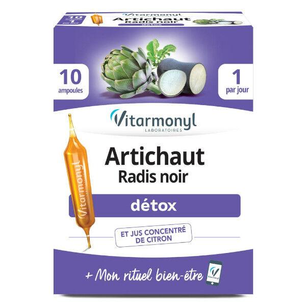 Vitarmonyl Actifs Naturels Artichaut Radis Noir 10 ampoules
