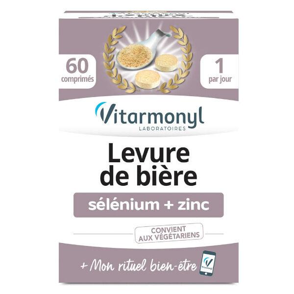 Vitarmonyl Levure de Bière Sélénium + Zinc 60 comprimés