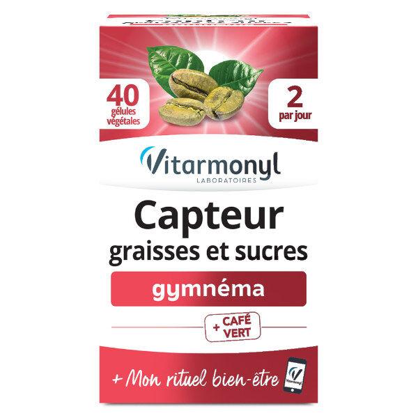 Vitarmonyl Actifs Naturels Capteur Graisses et Sucres Gymnéma 40 gélules