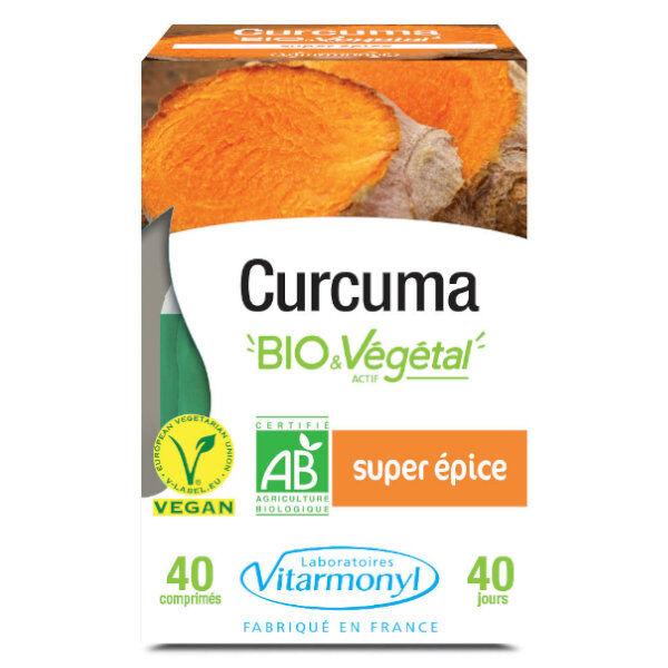 Vitarmonyl Bio & Végétal Curcuma 40 comprimés