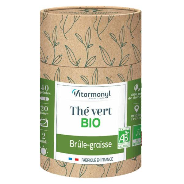 Vitarmonyl Actifs Naturels Thé Vert Bio 40 gélules