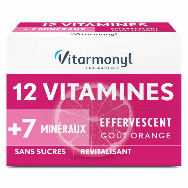 Vitarmonyl Vitalité 12 Vitamines + 7 Minéraux 24 comprimés effervescents