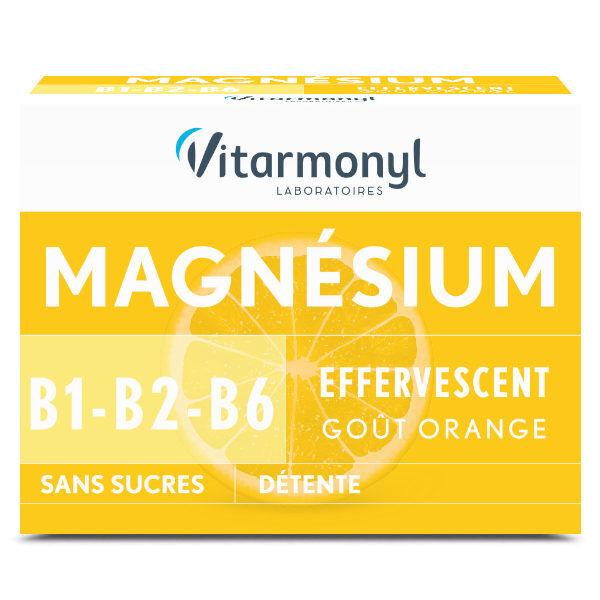 Vitarmonyl Vitalité Magnésium + B1 B2 B6 24 comprimés effervescents