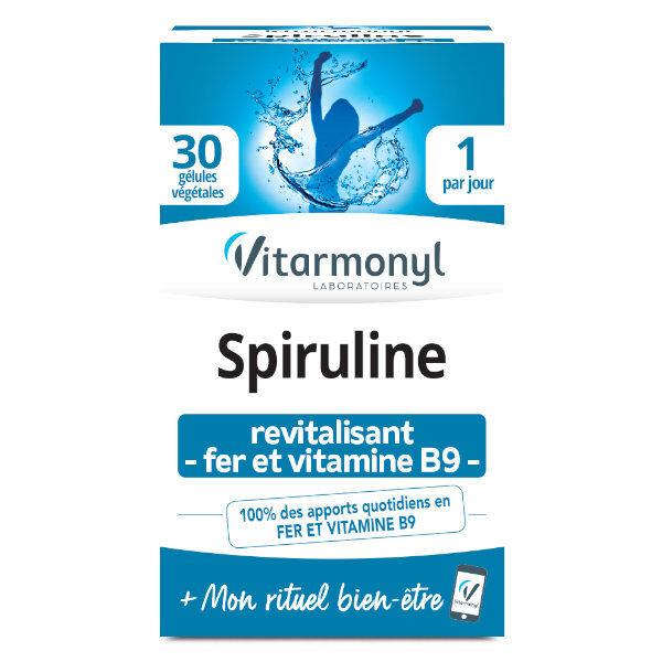 Vitarmonyl Actifs Naturels Spiruline Fer Vitamine B9 30 gélules