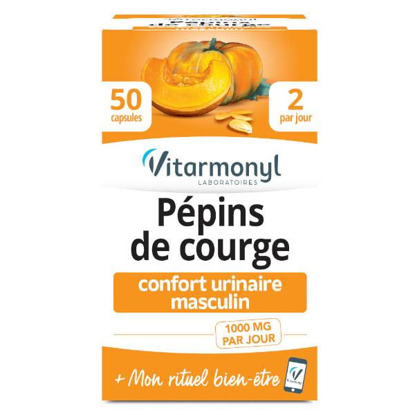 Vitarmonyl Actifs Naturels Pépins de Courge 50 capsules