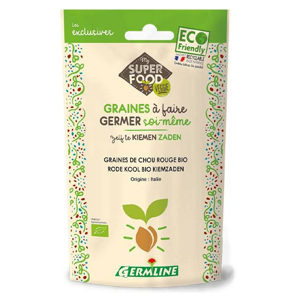 Germ'Line Germline Graines à Germer Chou Rouge Bio 100g