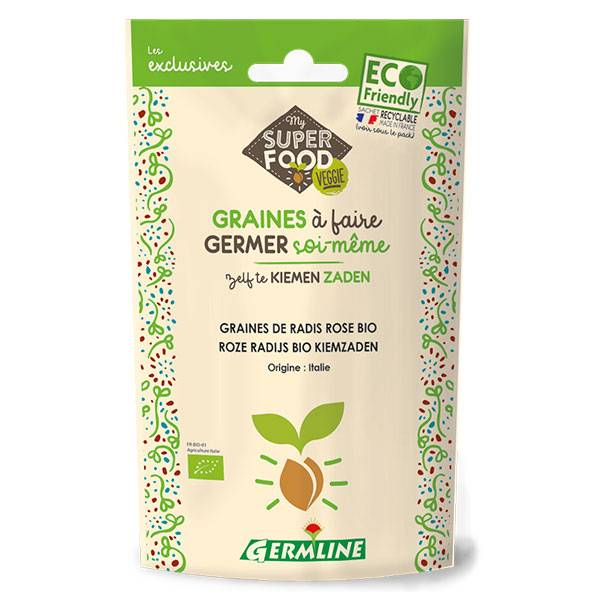 Germ'Line Germline Graines à Germer Radis Rose Bio 100g