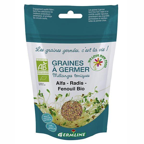 Germ'Line Germline Graines à Germer Alfalfa Radis Fenouil Bio 150g