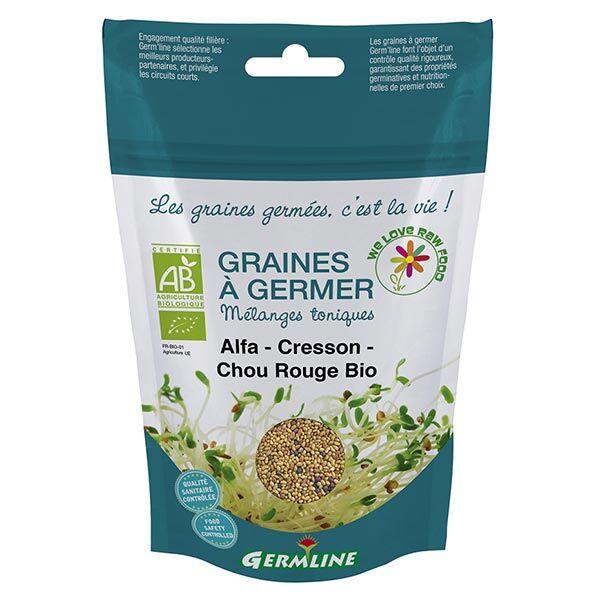 Germ'Line Germline Graines à Germer Alfalfa Cresson Chou Rouge Bio 150g