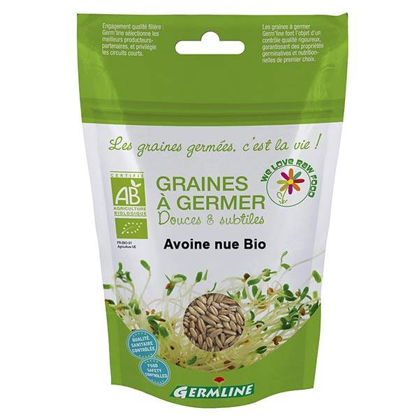Germ'Line Germline Graines à Germer Avoine Nue Bio 200g