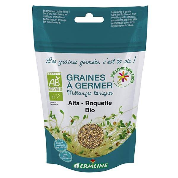 Germ'Line Germline Graines à Germer Alfalfa Roquette Bio 150g