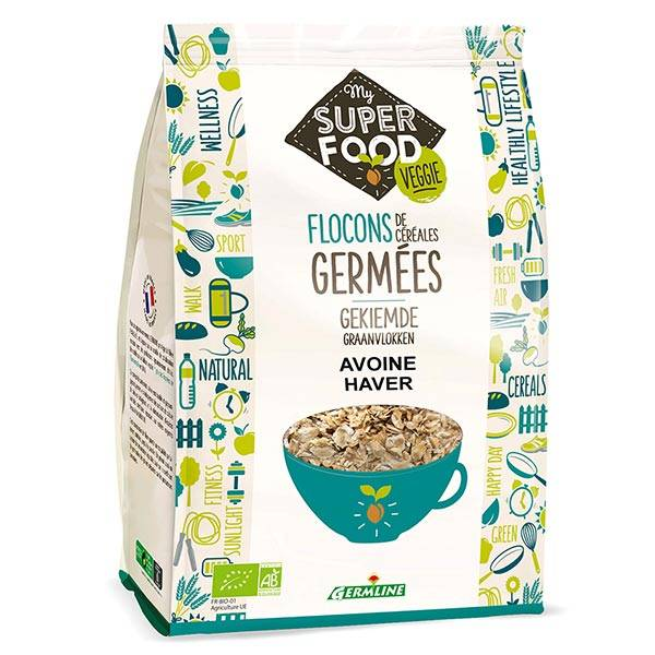 Germ'Line Germline Flocon Céréales Germées Avoine Bio 350g