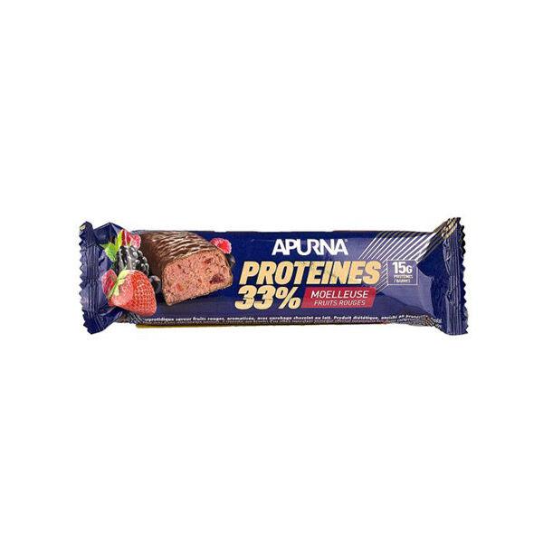 Apurna Barre Hyperprotéinée Moelleuse Fruits Rouges 45g