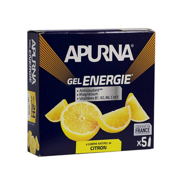 Apurna Gel Energie Citron Etui 5 unités