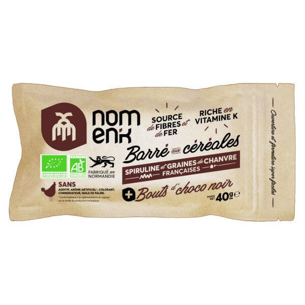 Nomen'k Barré Aux Céréales Chocolat Noir 40g