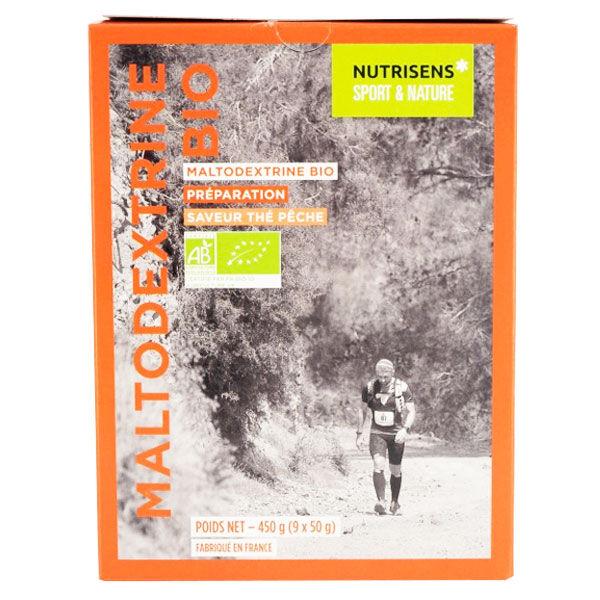 Nutrisens Sport Maltodextrine Bio Saveur Thé Pêche 9 sachets