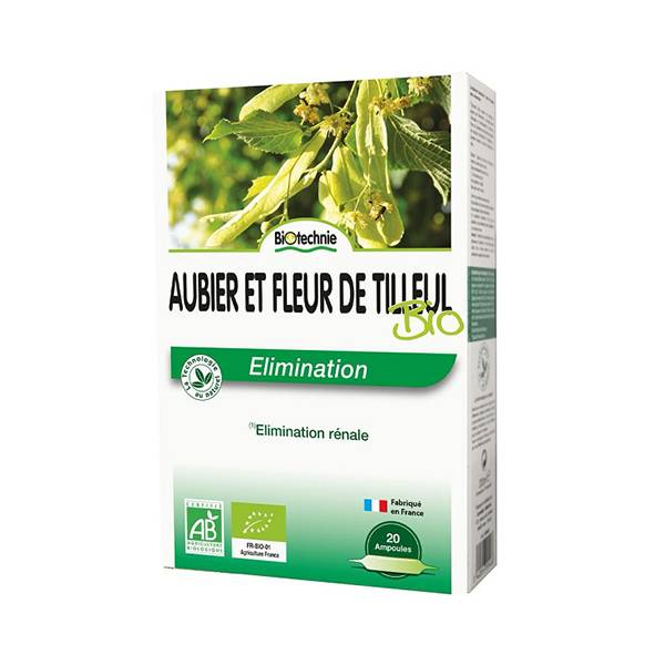 Biotechnie Elimination Aubier Tilleul Bio 20 ampoules