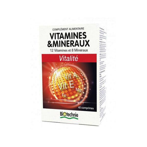 Biotechnie Vitamines et Minéraux 40 comprimés