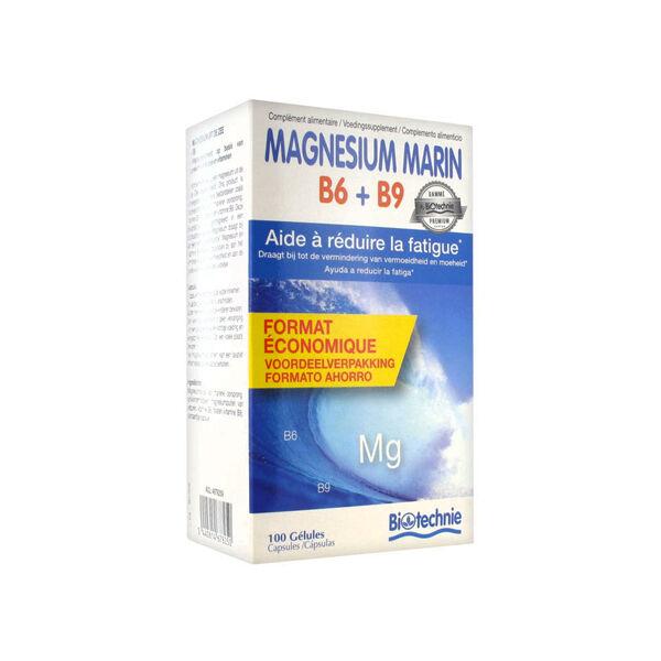 Biotechnie Magnésium Marin B6 + B9 100 gélules