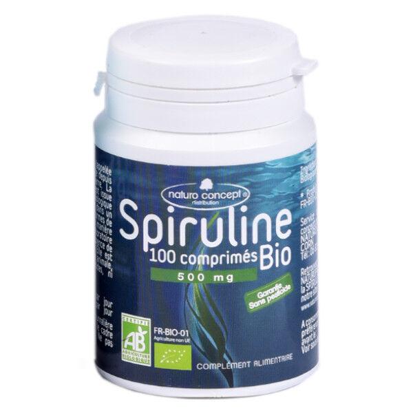 Naturo Concept Algues d'Eau Douce Spiruline Bio 100 comprimés